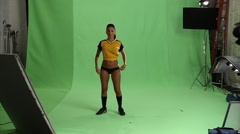 Sexy Soccer Girl Stock Footage