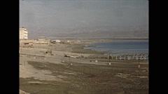 Vintage 16mm film, 1962, Israel dead sea Stock Footage