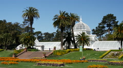 Conservatory of flowers in San Francisco Stock Footage