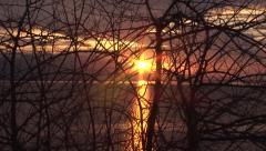 Lake Kerkini sunrise. Stock Footage