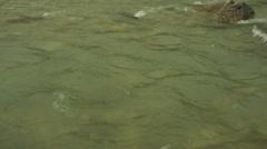 River in Himalaya mountains, medium shot, pan right Stock Footage