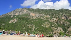 Babadag Mountain from the beach Stock Footage