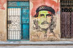 Che Guevara portrait in Old Havana Stock Photos