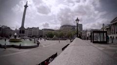 Trafalgar Square Timelapse Stock Footage