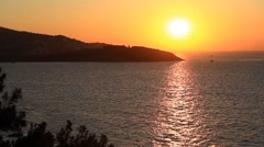 Marmara sea during sunset in Istanbul, Turkey. Static camera, original codec Stock Footage