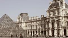 France, Paris, Tuileries Garden, Jardin des Tuileries, Louvre Museum Stock Footage