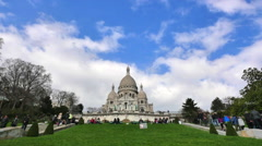The Basilica of the Sacred Heart in Montmartre Stock Footage
