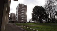 Urban Block of Flats - stock footage
