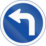Turn Left Ahead in Botswana Stock Illustration