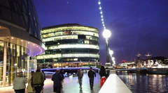 The Queens Walk and More London Riverside area at Stock Footage