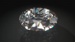 Rotating Diamond on Black Background Stock Footage