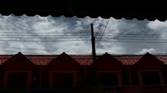 Clouds on the roof Townhouse Stock Footage
