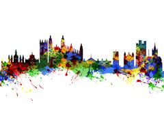 Cambridge England - stock illustration