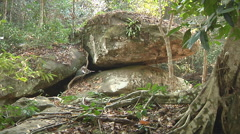 Forest near Kbal Spean at Angkor, Siem Reap, Cambodia Stock Footage