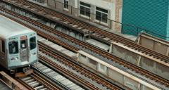 4K Clip of CTA Train in Chicago South Loop Stock Footage