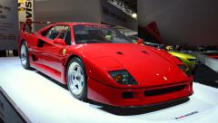 Ferrari F40 supercar - stock footage