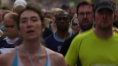 Keep On Running - Thousands Take Part In City Marathon - stock footage