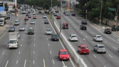 Traffic. Bandeirantes avenue, Sao Paulo, Brazil. 10 Stock Footage
