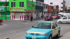 Police Directing Traffic in Small Mexican Town Stock Footage