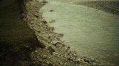 Shallow river, long shot, shallow DOF Stock Footage