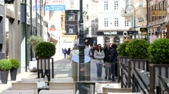 Walking the streets of Vienna Stock Footage