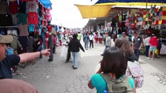 Outdoor Mexican Marketplace - Americans Walking Past Stock Footage