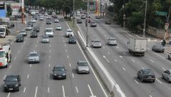 Traffic. Bandeirantes avenue, Sao Paulo, Brazil.  11 Stock Footage