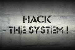 Hack the system Stock Illustration