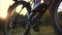 Stock Video Footage of Girl is on a Bike
