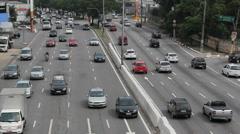 Traffic. Bandeirantes avenue, Sao Paulo, Brazil. Fast. Time lapse. 12 Stock Footage