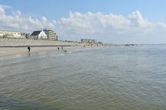 Beach in Summer, Norderney, East Frisia Island, North Sea, Lower Saxony, Germany Stock Photos
