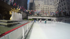 4k Sunny day at Rockefeller Center Stock Footage