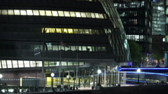 The London City Hall at night - stock footage