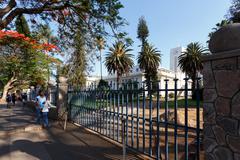 Street in Bulawayo Zimbabwe - stock photo