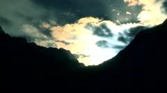 Sunrise over mountain Stock Footage