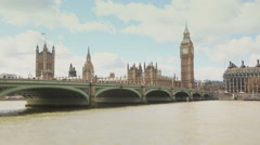Westminster bridge and Big Ben, time lapse Stock Footage