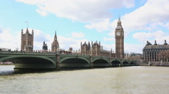 Westminster bridge and Big Ben, time lapse - stock footage
