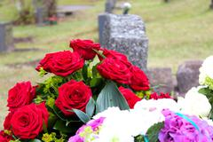 Funeral flowers. - stock photo
