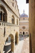 Piazza Vecchia in Bergamo - stock photo