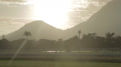 Jockey Club of Rio de Janeiro - Horse Racing - Brazil Stock Footage