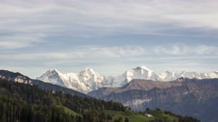 Swiss Mountains TimeLapse Stock Footage