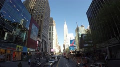 View of the Famous Empire State Stock Footage