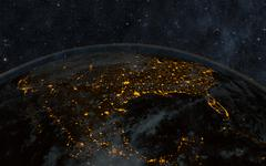 earth night - stock illustration