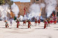 Stock Photo of MTARFA, MALTA - February 21, 2010 -  Knights of the Order of St. John during