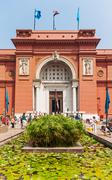 CAIRO, EGYPT - September 11, 2008: The Egyptian Museum in Cairo, one of the m Stock Photos
