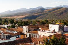 Colonial town cityscape of Trinidad, Cuba. UNESCO World Heritage Site. - stock photo