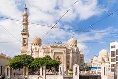ALEXANDRIA, EGYPT - September 12, 2008. Mosque of Abu Abbas al Mursi in Alexa Stock Photos