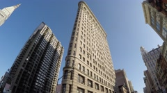 The Famous Flatiron Building in New York, United States of America Arkistovideo