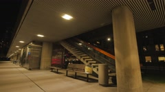 Toronto Nathan Phillips Square Night Stair Way Stock Footage