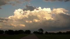 Dramatic Cloudscape Late Afternoon Sky Cumulonimbus Clouds Stock Footage